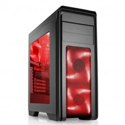 CASE GAMING CYCLONE ITGCCY01R - VENTOLE ROSSE - NO ALIMENTATORE - NERO