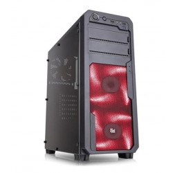 CASE GAMING SWOOP RED ITGCSW09R - VENTOLE ROSSE - NO ALIMENTATORE - NERO